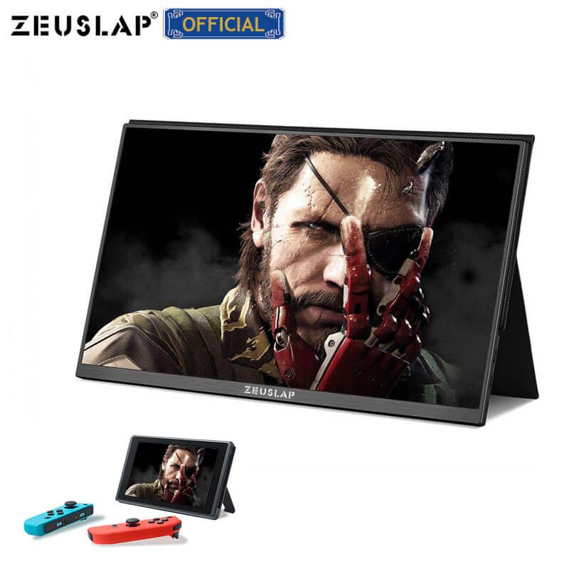 ZEUSLAP 15.6inch USB C HDMI 1920*1080P PD HDR Earphone Port Metal Portable IPS Screen Gaming Monitor