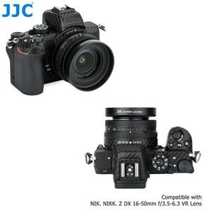Image 3 - JJC Metal Screw in Lens Hood for Nikon Z50 Camera + Nikkor Z DX 16 50 F/3.5 6.3 VR Lens Replace Nikon HN 40 Lens Shade Protector