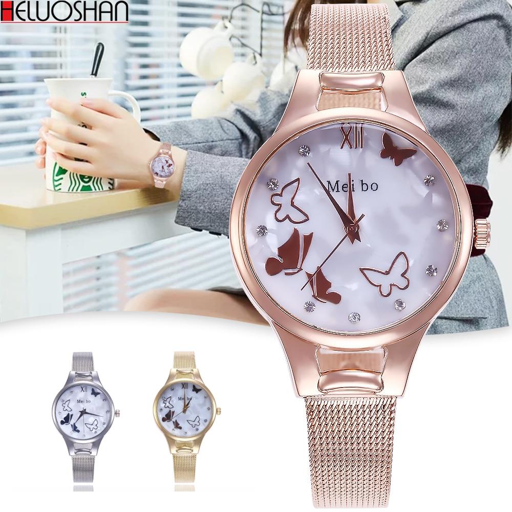 Khorasan Top Luxury Simple Silver Watches Women Stainless Steel Mesh Strap Fashion Casual Quartz Bracelet Watch Relogio Feminino