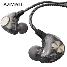 AZiMiYO HK1 Wired Headphones 3.5mm Hybrid HiFi DJ Earphone Stereo Music Deep Bass Noise Canceling earphone