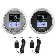 85 мм GPS автомобильный лодочный инженер из нержавеющей водонепроницаемой цифровой измеритель скорости одометр дорожный вольтметр с GPS антен...