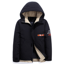 Teens Color matching Men #8217 s Down Jacket Stylish Male Down Coat Winter Thick Warm Man Clothing Brand Men #8217 s Apparel Warm Parka 1926 cheap JUNGLE ZONE Thick (Winter) L1926 REGULAR Casual zipper Full Letter Denim NONE Button Pockets Zippers Appliques Polyester