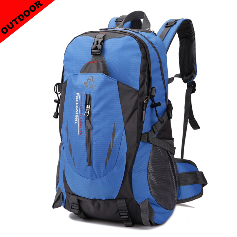Outdoor Men Sport Backpack 40L Nylon Waterproof Unisex Travel Backpack Male Women Hiking Camping Laptop Backpack Travel Bags in Backpacks from Luggage Bags