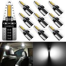 Katur W5W samochód żarówki do wewnętrznych lamp samochodowych światła do czytania T10 LED żarówka Canbus 194 led do użytku w Peugeot 206 406 508 307 406 3008 akcesoria