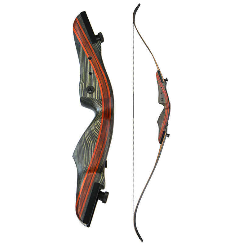 アーチェリー 62 インチ後ろに反らす 62 インチ弓伝統的なロングボウテイクダウン右手撮影 25-50lbs 狩猟アクセサリー