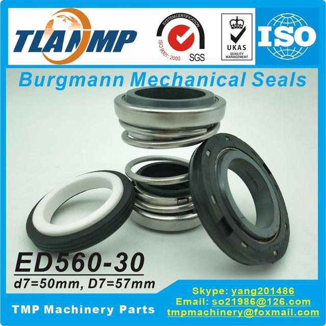 ED560 30 ( 560D 30 ) , 560D 30S (ED560 30S) podwójne uszczelnienia mechaniczne Burgmann (materiał: CE/CA/NBR + SiC/SiC/NBR)
