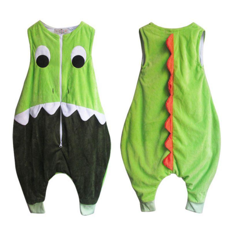 Baby Sleeping Bag Cotton Sleeveless Sleeping Ware Children Kid\'s Owl Dinosaur Sleep Sack Baby Sleepwear Clothess O