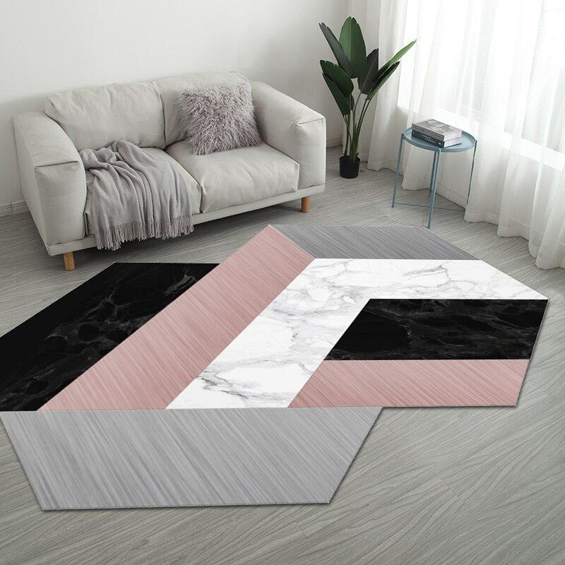 Nordic нерегулярные геометрический Коврик дома Гостиная коврики для ванной комнаты творческий Спальня прикроватные покрывало, плед исследование Йога Teppich коврик - Цвет: Style 9
