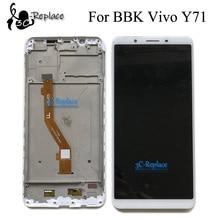 Haute qualité 6.0 pouces blanc/noir pour BBK Vivo Y71 Y71i Y71A plein écran Lcd écran tactile numériseur assemblée avec cadre