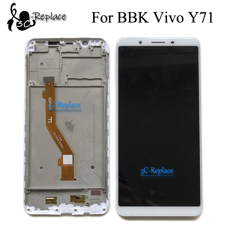 High Quality 6.0 inch White/Black For BBK Vivo Y71 Y71i Y71A Full  Lcd Display Display Touch Screen Digitizer Assembly With FrameMobile  Phone LCD Screens