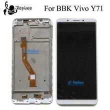 Yüksek Kalite 6.0 inç Beyaz/Siyah Için BBK Vivo Y71 Y71i Y71A Tam lcd ekran Ekran dokunmatik ekranlı sayısallaştırıcı grup Çerçeve Ile