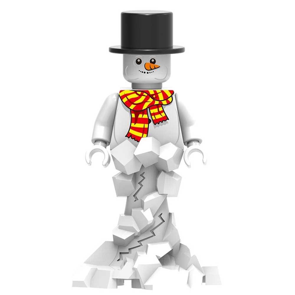 Navidad Yeti muñeco de nieve MINI figuras Super Héroes Star Wars Joker Darth Vader montar DIY bloques de construcción niños regalo Juguetes