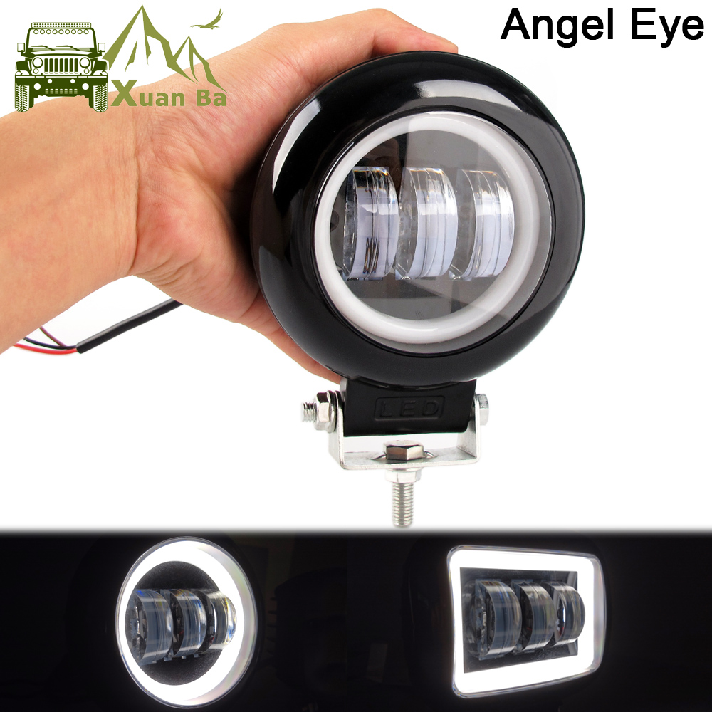 5 Inch Led Work Light Bar 6000K White Flood Beam For Car 4x4 Offroad Truck Boat UAZ ATV 12V 24V Led Angel Eyes Driving Lights