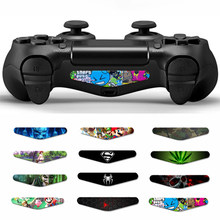 2 Pcs untuk DualShock 4 PS4 PS4 Pro Slim Controller LED Light Bar Decal Sticker Cover untuk PlayStation 4 Kontrol game Skins(China)