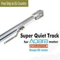 Pista de cortina eléctrica personalizada para Aqara/Dooya KT82 DT82 TN/TV/TS/LE, sistema de Control de rieles de cortina inteligente, envío gratis, país de la UE