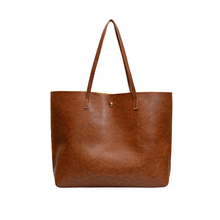 цена на High Quality Pu Leather Simple Bags Women Handbag Large Capacity Fashion Lady Tote Shoulder Bag