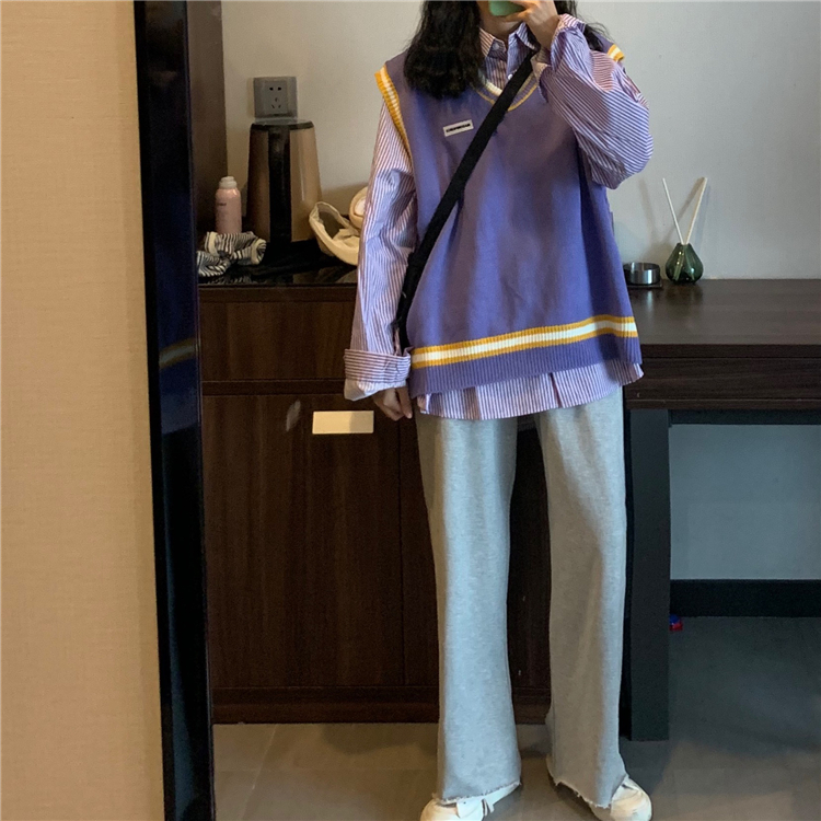 Hbd536d446358411ea35bacef8f3870eeU - Autumn / Winter High Waist Elastic Broadcloth Straight Solid Pants