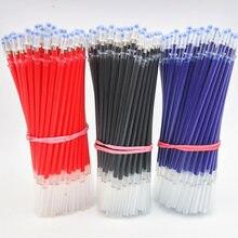20 pièces/ensemble de stylo Gel recharges 0.5mm noir bleu rouge encre recharge école bureau papeterie fournitures d'écriture