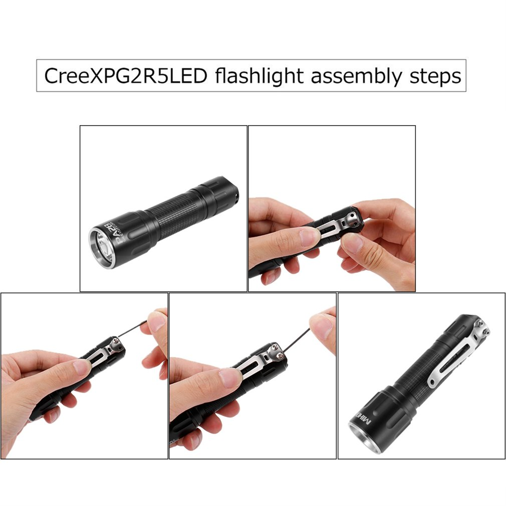 Waterproof Multi-Function LED Flashlight Tactical Torch With AA Alkaline Battery Portable For Camping Brightness Adjustable