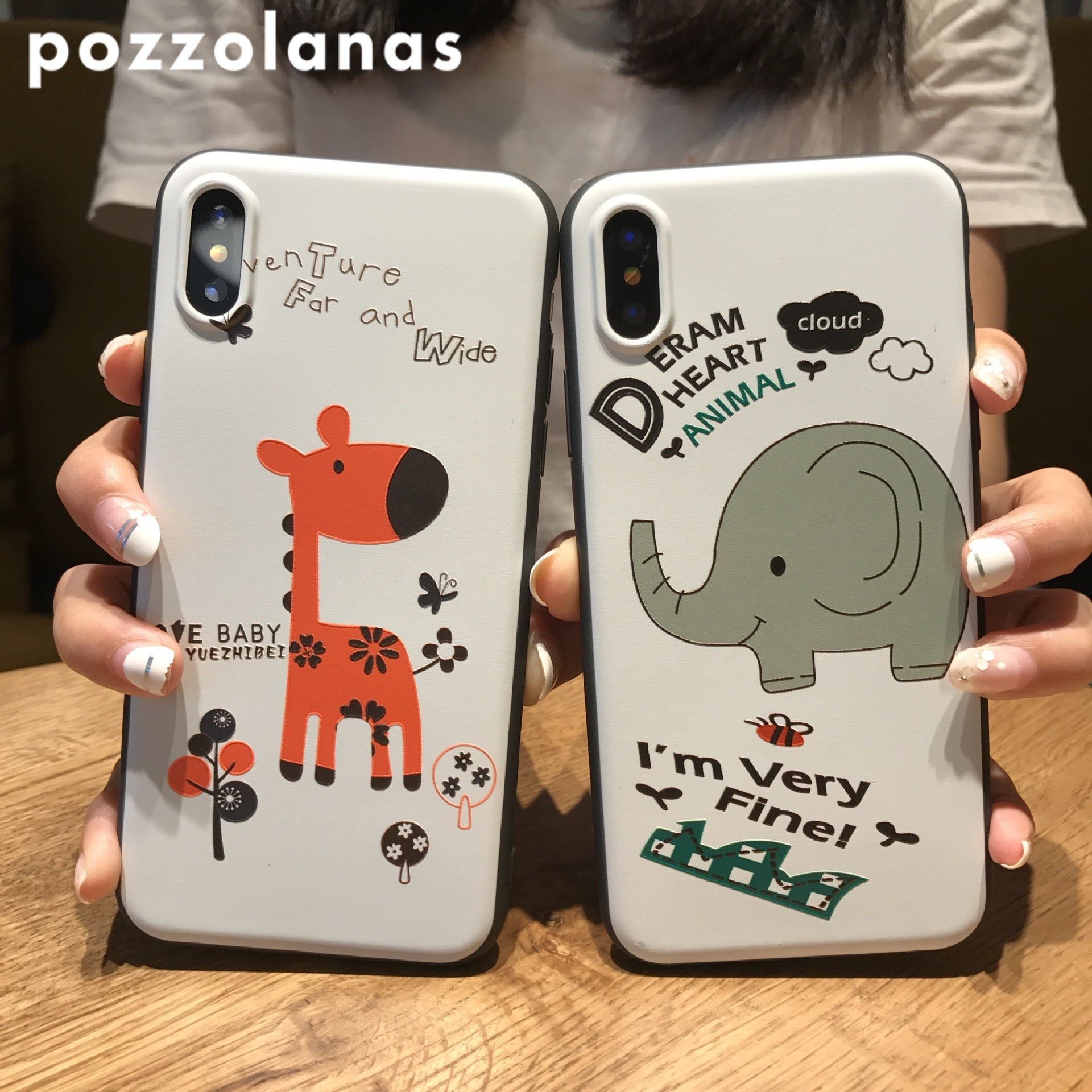 Pozzolanas Cartoon Giraffe 6s Protect Phone Vivo Series 7plus Soft Shell Iphone 8 X 7 Case in Fitted Cases from Cellphones Telecommunications