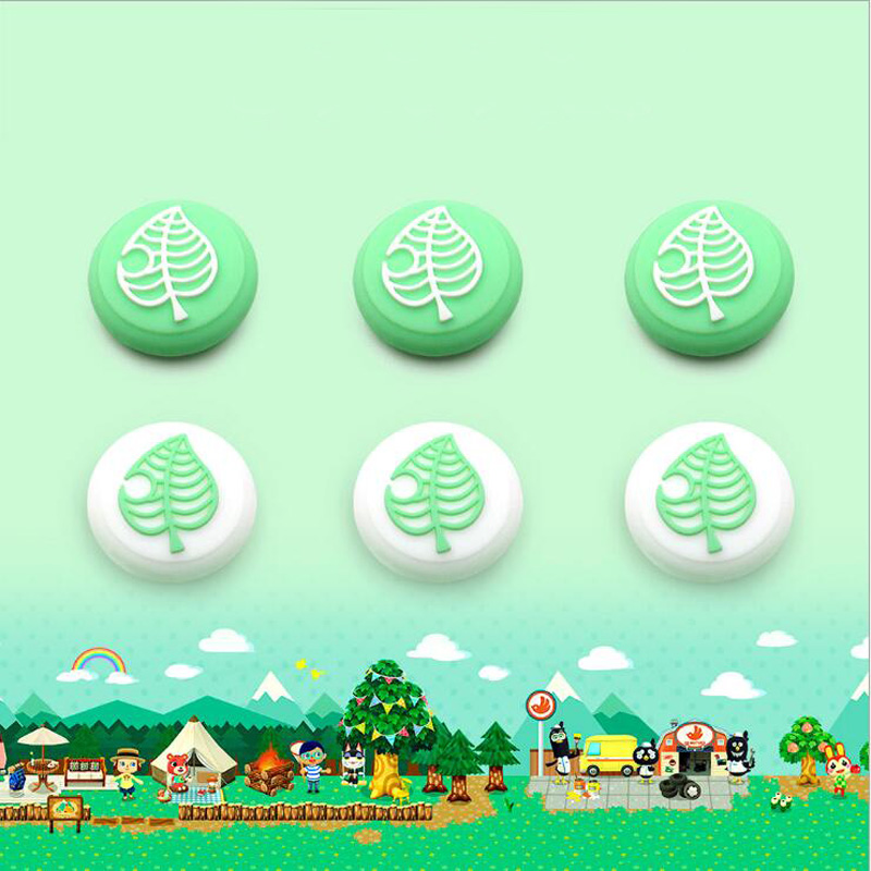 Animal Crossing Tree Leaf Thumb Stick Grip Cap Joystick Cover For Nintend Switch Lite Joy-Con Controller Gamepad Thumbstick Case