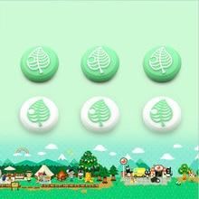 Hayvan geçişi ağacı yaprak Thumb çubuk kavrama Cap Joystick kapak nintendo anahtarı Lite Joy Con denetleyici Gamepad Thumbstick kılıf
