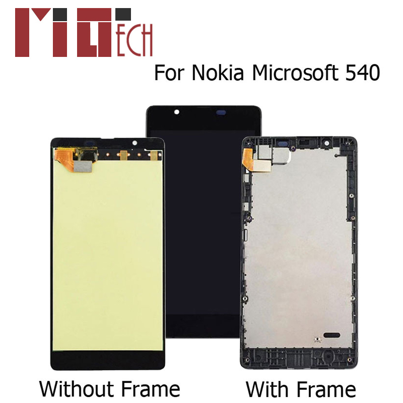 Original LCD Display For <font><b>Microsoft</b></font> Nokia <font><b>Lumia</b></font> <font><b>540</b></font> Touch <font><b>Screen</b></font> Digitizer Full Assembly <font><b>Replacement</b></font> With Frame 5.0 Inch New image
