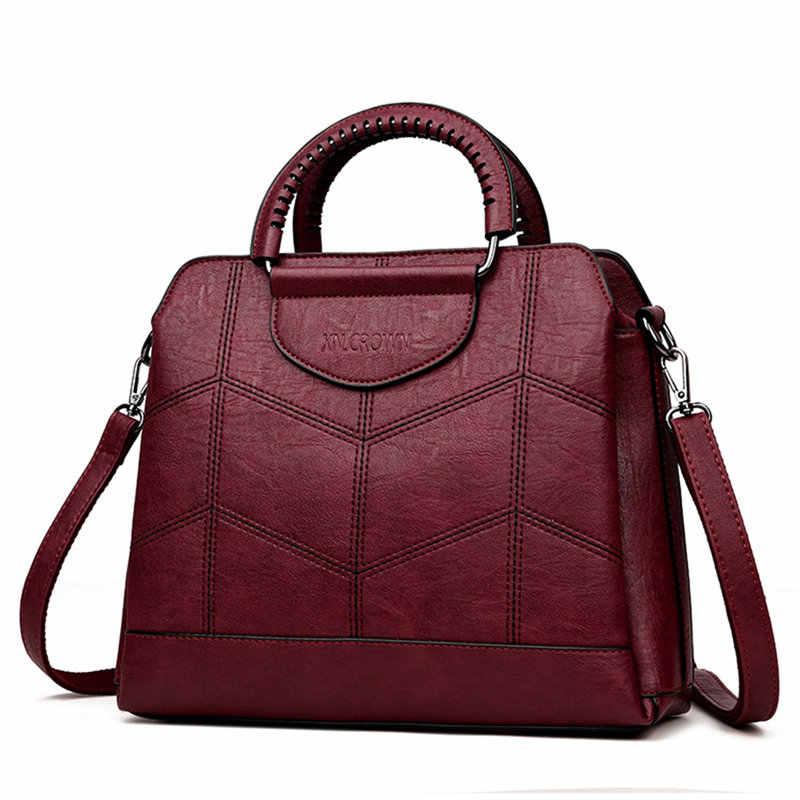 Tote Leather Luxury Handbags Women Bags Designer Handbags High Quality Crossbody Bags For Women 2019 Sac a Main Ladies Hand Bag