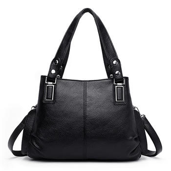 3 Pockets Shoulder Crossbody Genuine Leather Bags for Women 2020 Luxury Handbags Women Bags Designer Big Ladies Hand Bags