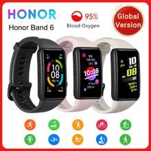 Honor – Bracelet connecté Band 6, étanche, avec écran tactile AMOLED, moniteur de fréquence cardiaque et d'oxygène dans le sang, Original, Version globale