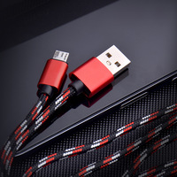 cable samsung Fashion Aluminum Alloy 2A Phone Charging Cable Nylon Braided Data Cable For Samsung Huawei Xiaomi Android Phone Accessories (1)