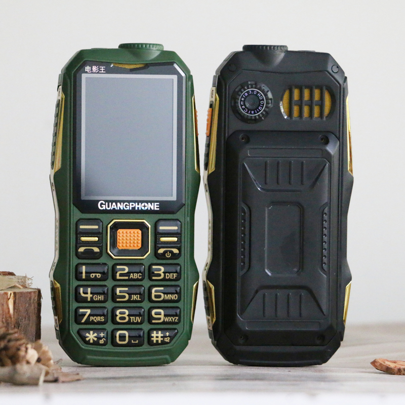 Longa espera ao ar livre áspero telefone celular grande potência sos dial lista preta grande teclado lanterna whatsapp dupla sime som alto