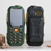 Lungo Standby Esterno Robusto Telefono Cellulare Grande Potenza Quadrante SOS Lista Nera Tastiera di Grandi Dimensioni Torcia Elettrica Whatsapp Dual Sime Suono Forte