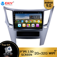 EKIY 9 Android 9.0 Car Radio Multimedia Video Player Navigation GPS For Subaru Outback 2010 2011 2012 2016 2DIN Car DVD Player