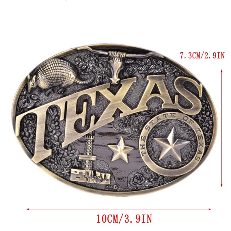 Retro Square Mens Belt Buckle Cowboy Western Large Metal Alloy Buckles
