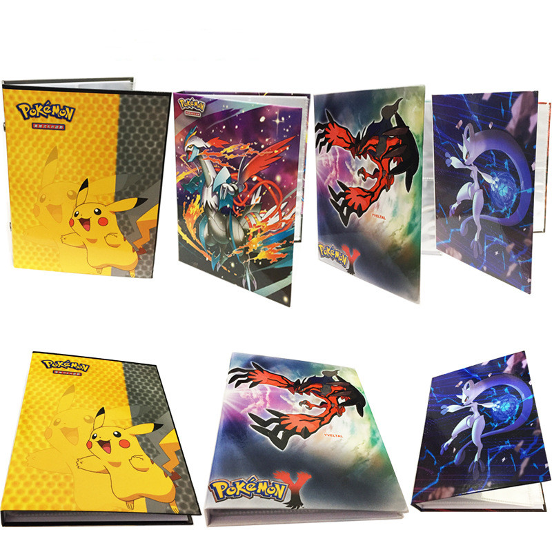 Hard Cover Pikachu Collection Pokemon Cards Album Book Top Loaded List Playing Pokemon Cards Holder Album Toys For Novelty Gift
