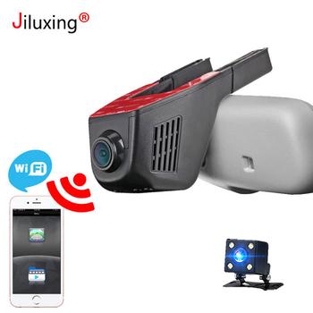 1080P wideorejestrator samochodowy WIFI dwie kamery samochodu mini kamery kamera z funkcją nagrywania w pętli kamera na deskę rozdzielczą rejestrator wideorejestrator kamery podwójny obiektyw kontrola aplikacji tanie i dobre opinie jiluxing Chipset firmy GENERALPLUS Ukryty Klasa 10 Need to connect car charger work 170° Samochód dvr 1920x1080 NONE G-sensor
