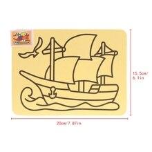 Раскраска на основе песчаной живописи креативное искусство мультфильм бумажные инструменты для рисования ремесло Детские игрушки