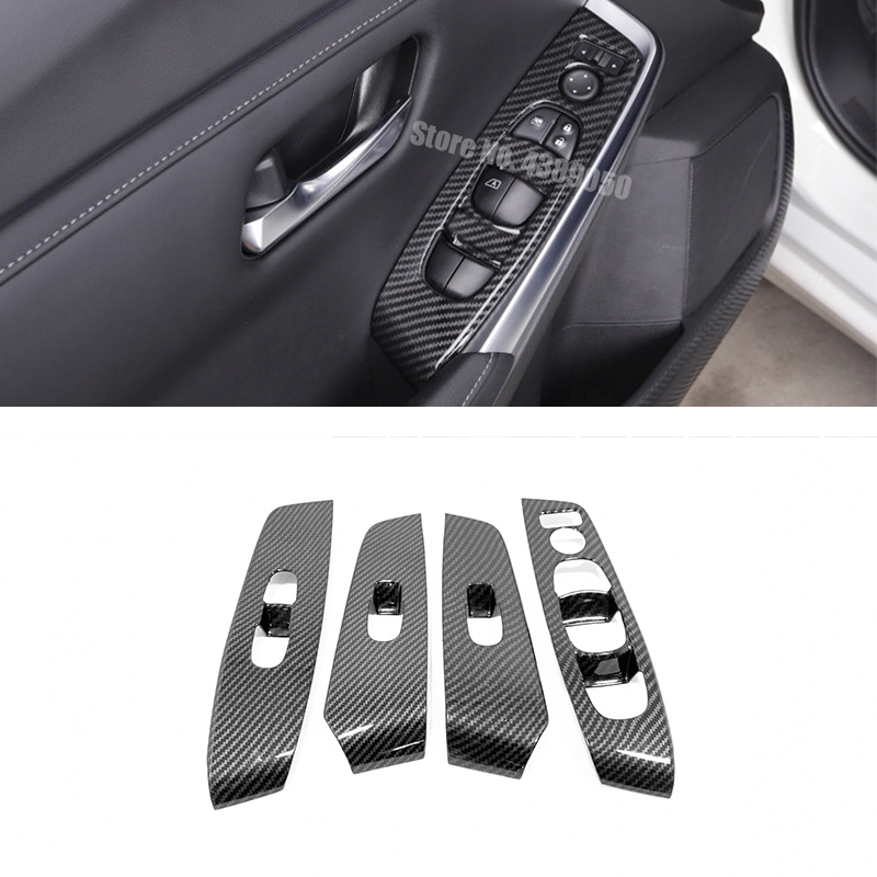 ABS-Plastic-For--Sentra-2020-Accessories-LHD-Door-Window-glass-Lift-Control-Switch-Panel-Cover