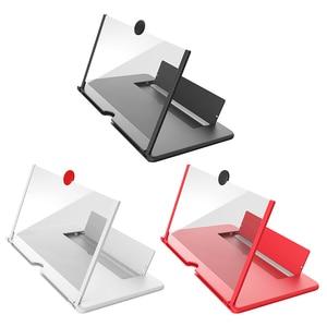 AMPLIFICADOR DE PANTALLA para teléfono móvil, soporte de soporte estereoscópico, amplificador de vídeo de alta calidad, 12 pulgadas, 3D