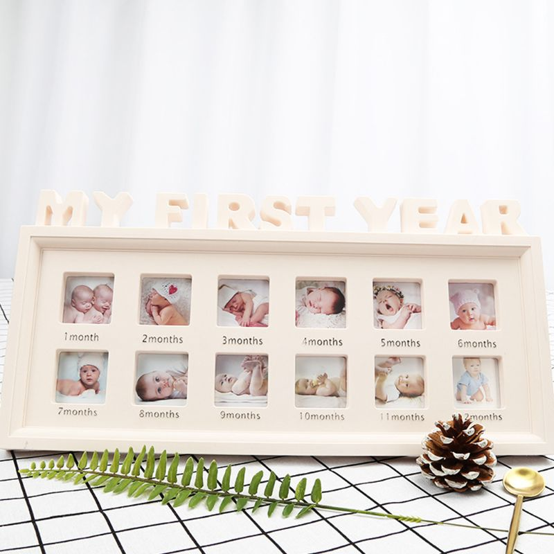Creative-DIY-0-12-Month-Baby-MY-FIRST-YEAR-Pictures-Souvenirs-Commemorate-Kids-Growing-Memory-Gift