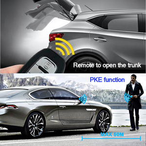 Image 2 - Car PKE Keyless Entry system one start stop button alarm system with remote control for 12v car keyless start accessories