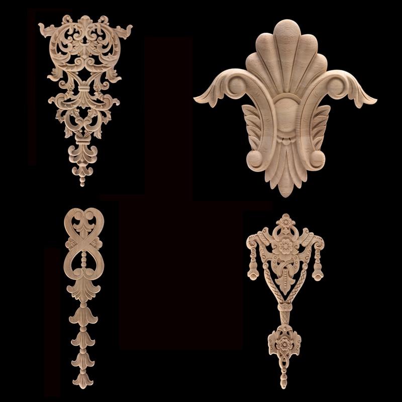 Неокрашенные антикварные современные декоративные длинные листья короны деревянные стены шкаф для дома деревянные ремесленные деревянны...