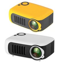 Projector Stereo-Speaker Mini Home 1080P Built-In Video HD with 50000 Hours-Lamp Life