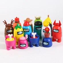 Entre nós bonecas figuras modelo brinquedos carro computador desktop decoração bonecas natal presente de aniversário 8-10cm