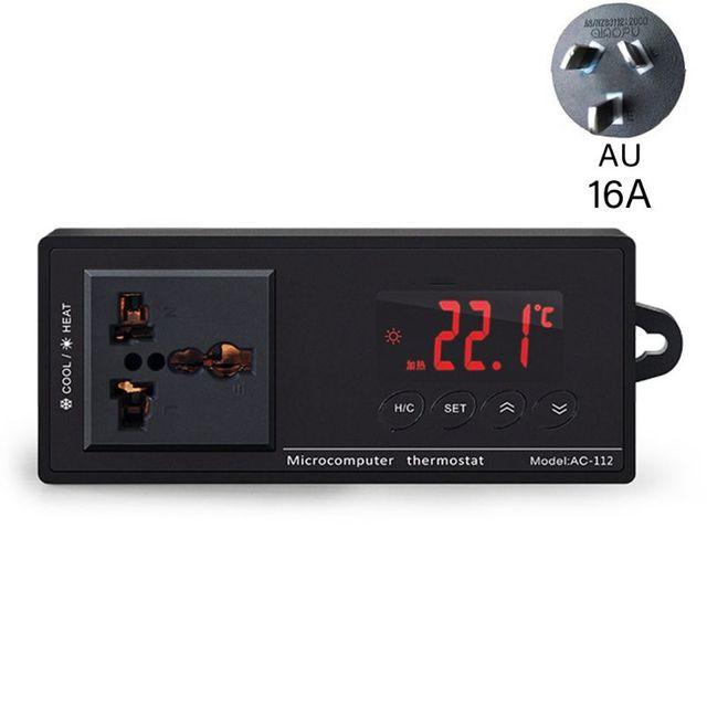 16A AC-112 sortie Thermostat pour animaux de compagnie régulateur de température numérique chauffe-Aquarium 85WF