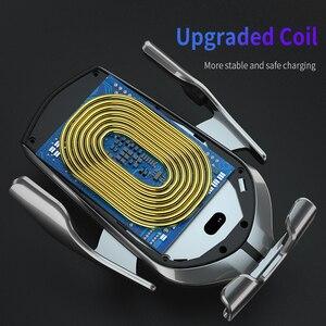 Image 4 - Aperto automático qi sem fio carregador de carro montar sensor infravermelho carregamento rápido titular para iphone 8 x xr xs 11 samsung s10 s9 s8