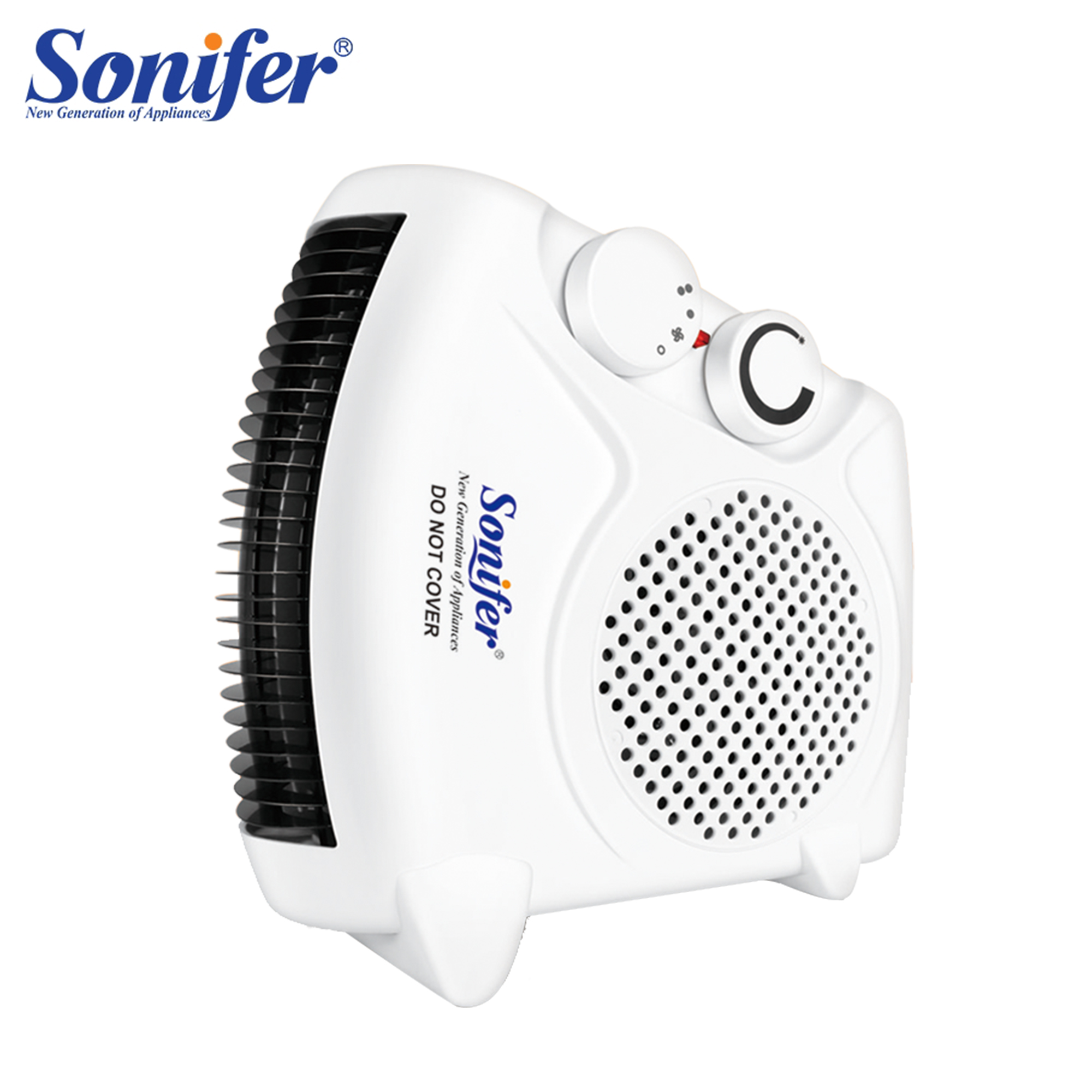 2000W Electric Fan Heater Desktop Heating Camping Any Place AdjustableThermostat Home Room Handy Heating Quick Heat 220V Sonifer