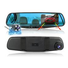Car Camera Dash Cam Car Mirror Dual Lens Rear View Camera Rearview  Auto Recorder Video Full Hd Front And Rear car parking camera video 2 channel converter auto switch front side rearview rear view camera video control box with manual