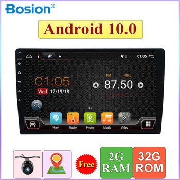 1 Din 10'' Android 10.0 Universal Car Radio Double din 2G+32G Stereo GPS Navigation In Dash Video WIFI USB 1din BT touch screen image